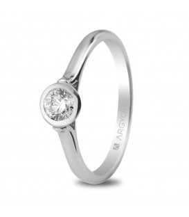 Solitario con diamante de 0.30cT Chaton - 74B0022