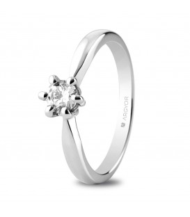 Anillo de compromiso con 1 diamante 4,4 MM 0.34 ct 6 Garras - 74B0040