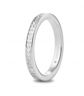 Anillo de diamantes eternity de oro blanco - 74B0055