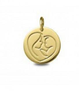 Medalla de oro amarillo Mamá - 1962014/16