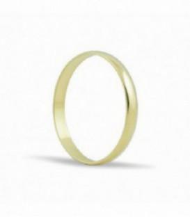 Alianza de boda de oro pulido 2,50MM - L2.5