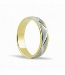 Alianza de boda oro bicolor - SC151