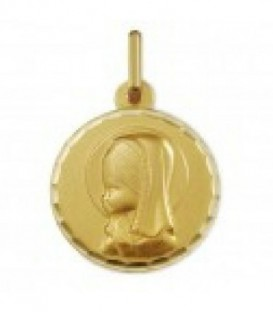Medalla oro 1ª ley virgen niña 16 milimetros - 1603104N/04