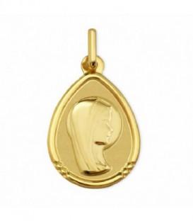 Medalla de comunión oro amarillo Virgen niña 18k - 1903184/06