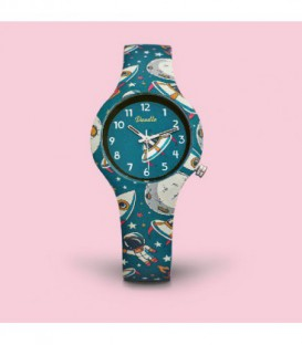 Reloj Doodle Space Mood DO32002 niño azul y blanco - DO32002