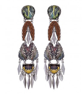 Pendientes Ayala Bar Mother Earth Stormy - R1490
