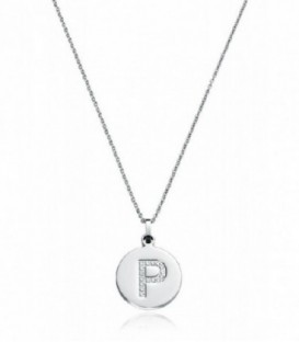 Collar letra P Viceroy Colección Iniciales acero - 75121C01000P
