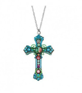 Cruz y cadena Ayala Bar Jewelry, cuentas de vidrio - 5265