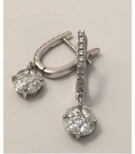 Pendientes Oro Blanco y Diamantes - 2867A/007